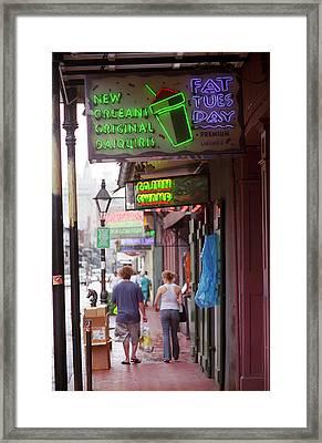 New Orleans - Bourbon Street 33 Framed Print by Frank Romeo