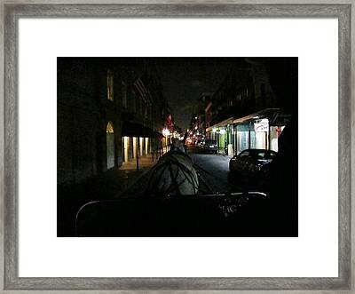 New Orleans - City At Night - 12129 Framed Print by DC Photographer