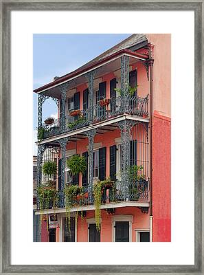 New Orleans Colorful Homes Framed Print by Christine Till