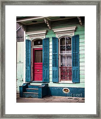 New Orleans Colors Framed Print by Perry Webster