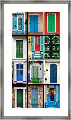 New Orleans Doors Framed Print by Christine Till