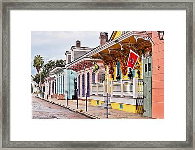New Orleans Happy Houses Framed Print by Christine Till