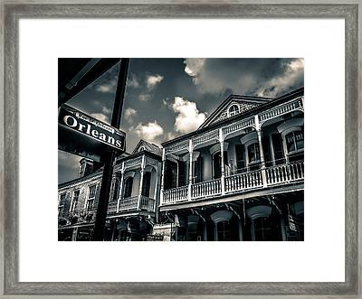New Orleans In Black And White Framed Print by Catherine Arnas