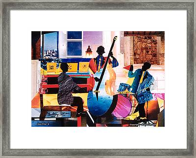 New Orleans Jazz Trio B Framed Print by Everett Spruill