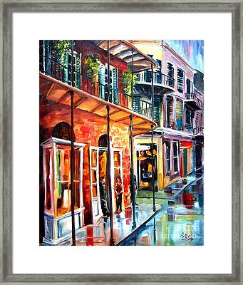 New Orleans Rainy Day Framed Print by Diane Millsap
