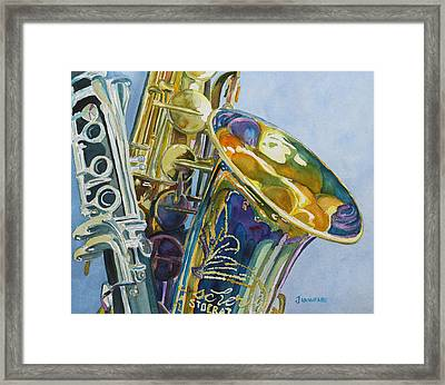 New Orleans Reeds Framed Print by Jenny Armitage