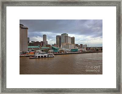 New Orleans Riverfront Framed Print by Kay Pickens