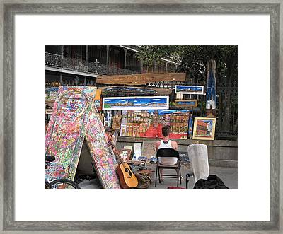 New Orleans - Seen On The Streets - 121249 Framed Print by DC Photographer