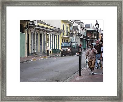 New Orleans - Seen On The Streets - 121252 Framed Print by DC Photographer