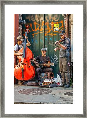 New Orleans Street Musicians Framed Print by Steve Harrington