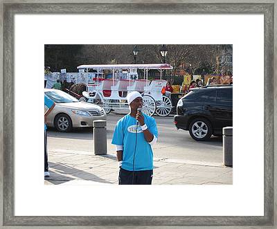 New Orleans - Street Performers - 12128 Framed Print by DC Photographer