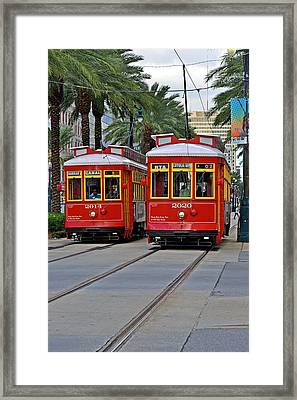 New Orleans Streetcars Framed Print by Christine Till