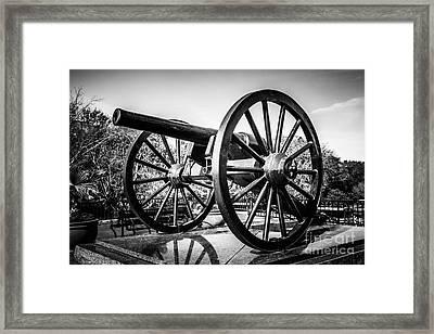New Orleans Washington Artillery Park Cannon Framed Print by Paul Velgos