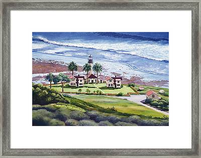 New Point Loma Lighthouse Framed Print by Mary Helmreich