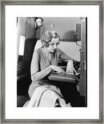 New Pullman Car Interiors Framed Print by Underwood Archives