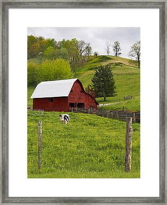 New Red Paint Framed Print by Mike McGlothlen