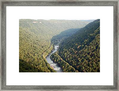 New River Gorge Framed Print by Aimee L Maher Photography and Art Visit ALMGallerydotcom