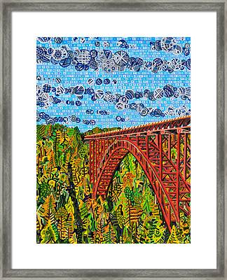 New River Gorge Framed Print by Micah Mullen