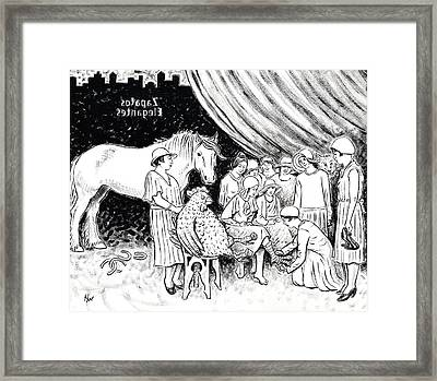 New Shoe Store Study Framed Print by Holly Wood