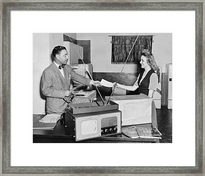 New Television Delivered Framed Print by Bill Wood