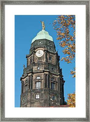 New Town Hall In Dresden, Germany Framed Print by Michael Defreitas