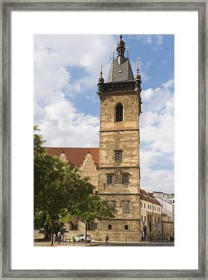 New Town Hall Novomestska Radnice Prague Framed Print by Matthias Hauser