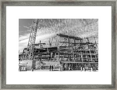 Minnesota Vikings U S Bank Stadium Under Construction Framed Print by Jim Hughes