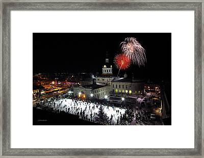 New Year Rockin' In The Clock Framed Print by Paul Wash