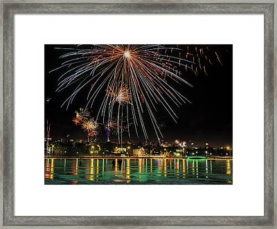 New Years Eve Fireworks Are Legal Framed Print by Panoramic Images