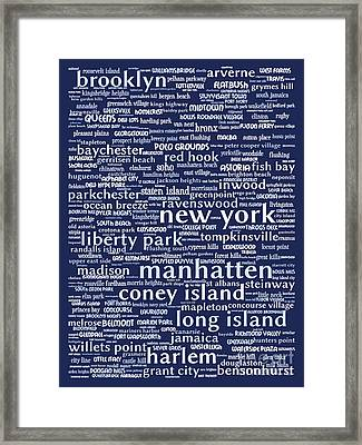 New York 20130709bwco80 Framed Print by Wingsdomain Art and Photography