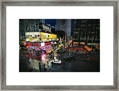 New York After The Rain Framed Print by Linda Unger