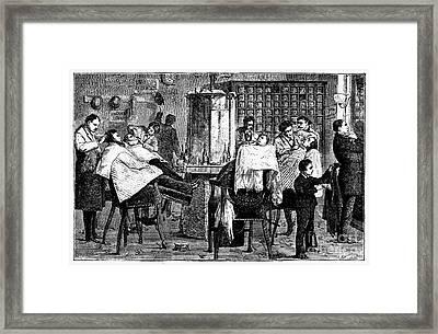 New York: Barbershop, 1882 Framed Print by Granger