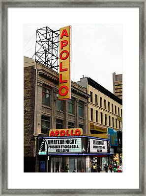 New York City - Apollo Theater  Framed Print by Russell Mancuso