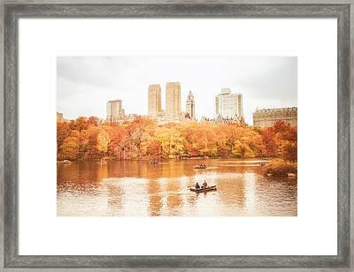 New York City - Autumn - Central Park Framed Print by Vivienne Gucwa