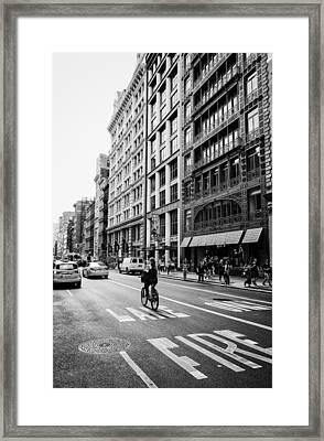 New York City Bicycle Ride - Soho Framed Print by Vivienne Gucwa