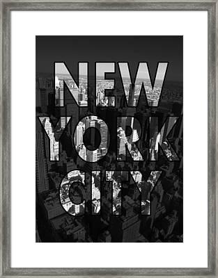 New York City - Black Framed Print by Nicklas Gustafsson