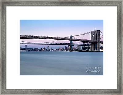New York City Bridges Bmw Framed Print by Susan Candelario