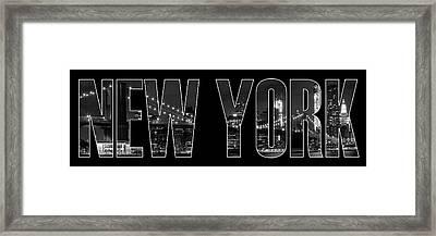 New York City Brooklyn Bridge Bw Framed Print by Melanie Viola
