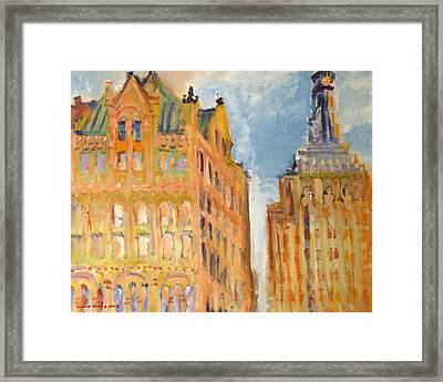 New York City Buildings 2 Framed Print by Edward Ching