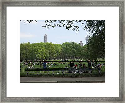 New York City - Central Park - 121224 Framed Print by DC Photographer