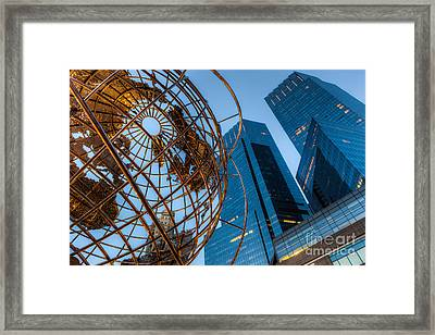 New York City Columbus Circle Landmarks I Framed Print by Clarence Holmes