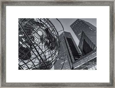 New York City Columbus Circle Landmarks II Framed Print by Clarence Holmes