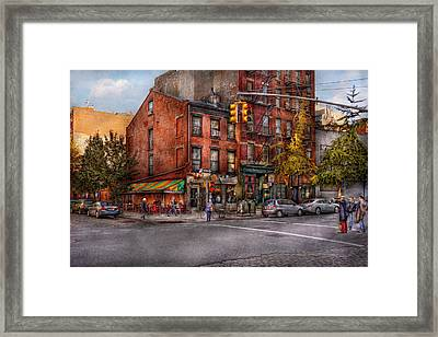 New York - City - Corner Of One Way And This Way Framed Print by Mike Savad