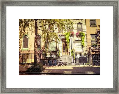 New York City - East Village - Early Autumn Framed Print by Vivienne Gucwa