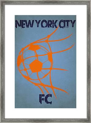 New York City Fc Goal Framed Print by Joe Hamilton