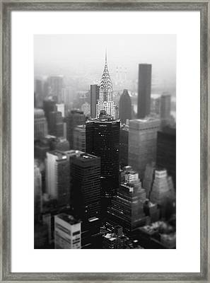 New York City - Fog And The Chrysler Building Framed Print by Vivienne Gucwa