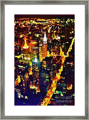 New York City From The Empire State Building Framed Print by John Malone JSM Fine Arts