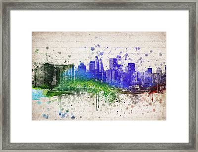 New York City In Color Framed Print by Aged Pixel