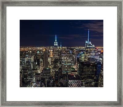 New York City Framed Print by Larry Marshall