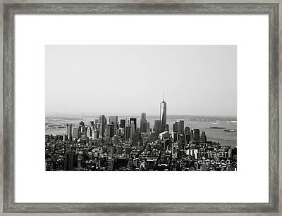 New York City Framed Print by Linda Woods